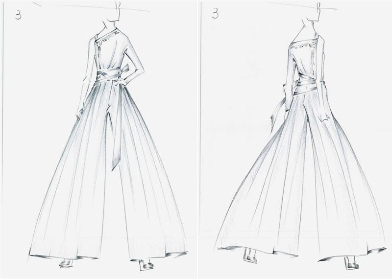基于《蜀绣》主题,刺绣当然是设计中不可或缺的要素,服装周身恰到